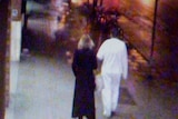 CCTV image of a man and a woman