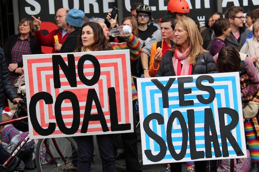 Demonstrators call for more renewable energy