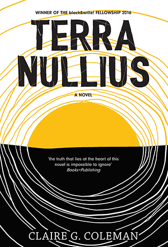 The cover is dominated by a bright yellow circle which mimics the sun circle on the Indigenous Australian flag.