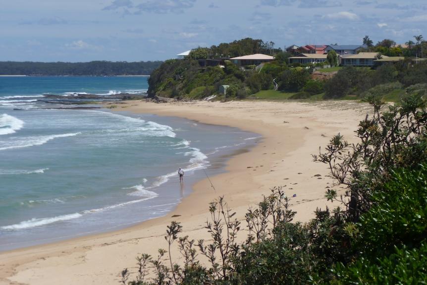 Looking along the beach at Berara on the NSW south coast.