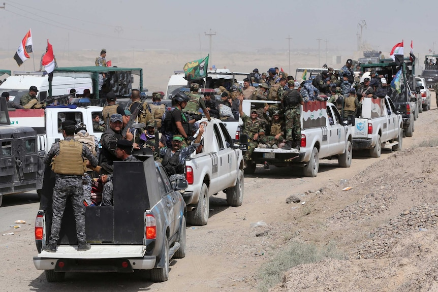 Iraqi forces prepare for an operation in Anbar