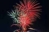 Fireworks at Melbourne Cricket Ground