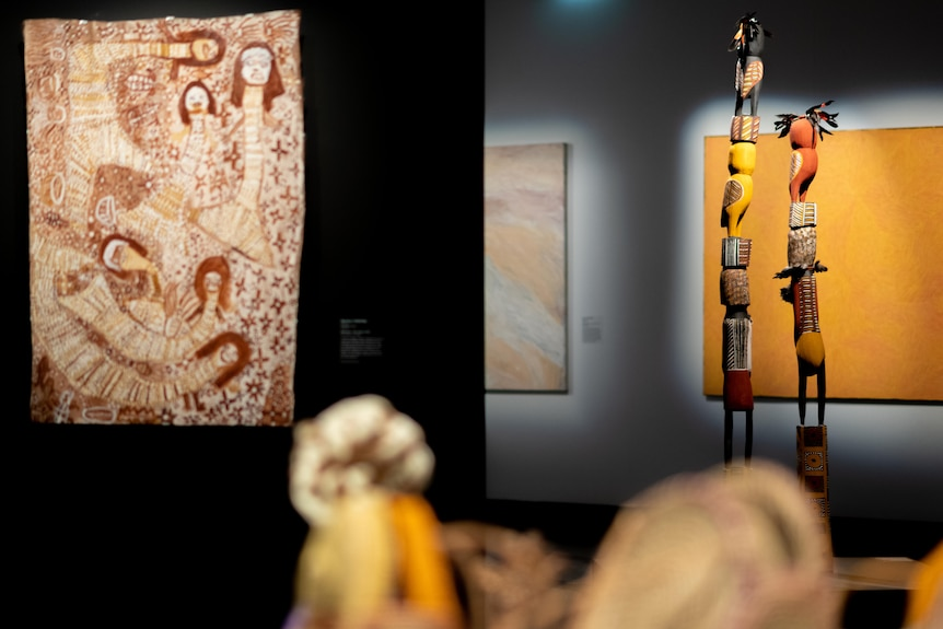 Some of the finalists' artworks on display at the MAGNT.