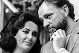 Elizabeth Taylor and her then husband Richard Burton