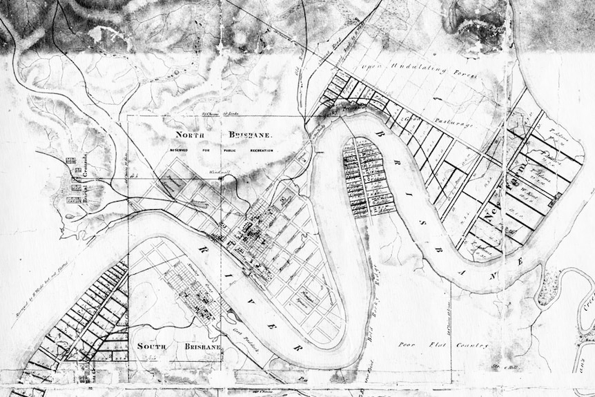 Brisbane Town land survey from the mid 1800s.