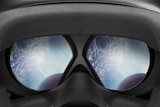 Looking through the lenses of the HTV Vive virtual reality headset.