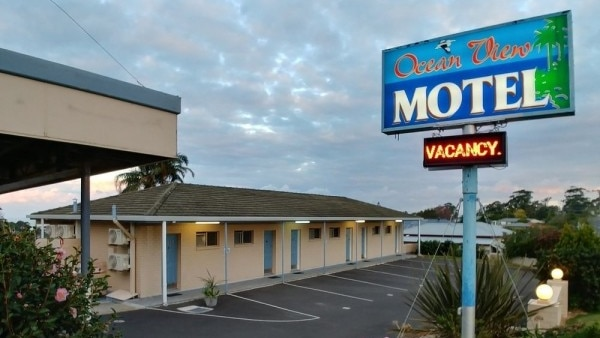 A shot of the Mollymook Ocean View Motel.