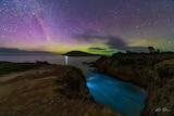 Aurora and bioluminescence at South Arm