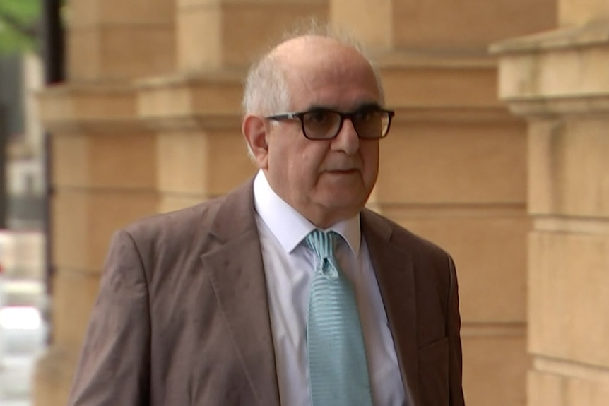 A man walks outside Adelaide's District Court
