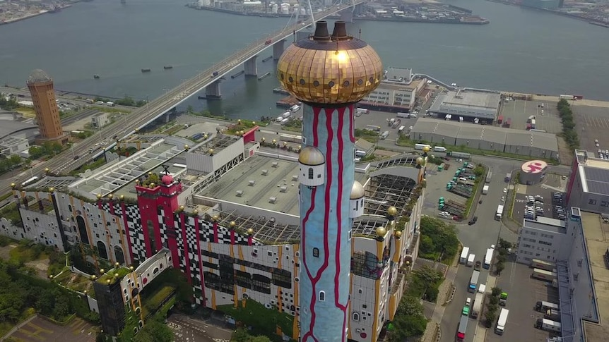 The Maishima Incineration Plant looks like a theme park, but plays an important waste management role