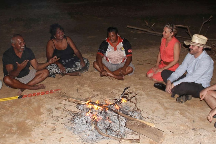 Aboriginal people living in Darwin with the Telling It Like It Is project's researchers.