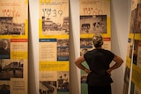 The permanent exhibition boards at the Museum of Perth