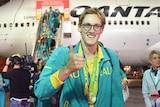 Mack Horton arrives home after Rio