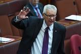 Federal Labor Senator Doug Cameron speaks in the Senate at Parliament House