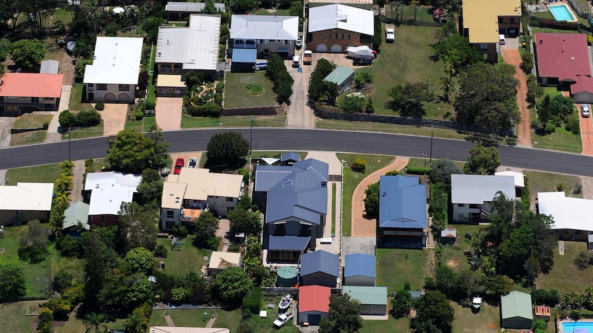 Houses viewed from the air