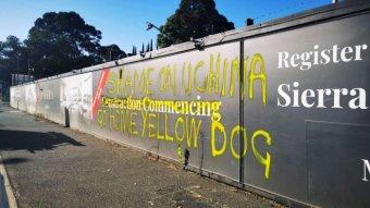 Racist graffiti in Melbourne.