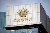 Crown logo on Perth hotel building