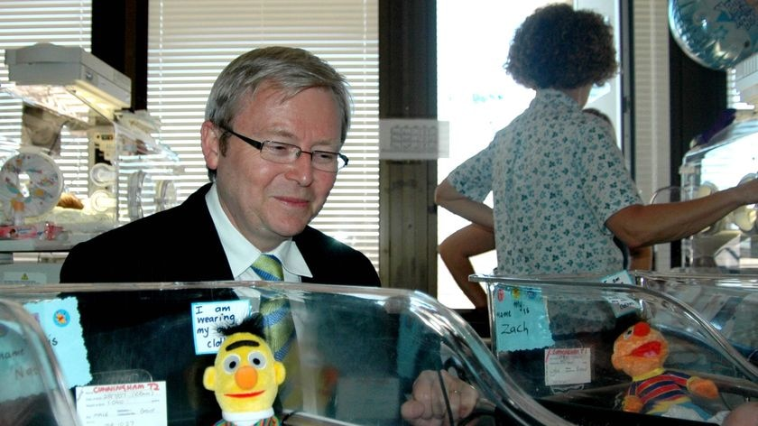 Mr Rudd says the announcement is just a short-term pre-election 'patch-up'.