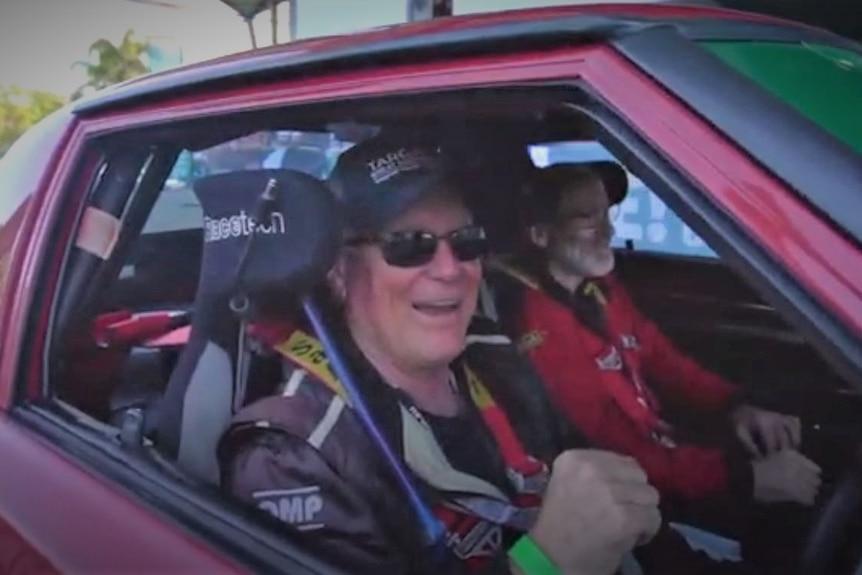 Shane Navin with Glenn Evans in Mazda RX7