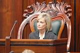 Elise Archer in Speaker's chair in the Tasmanian Parliament.