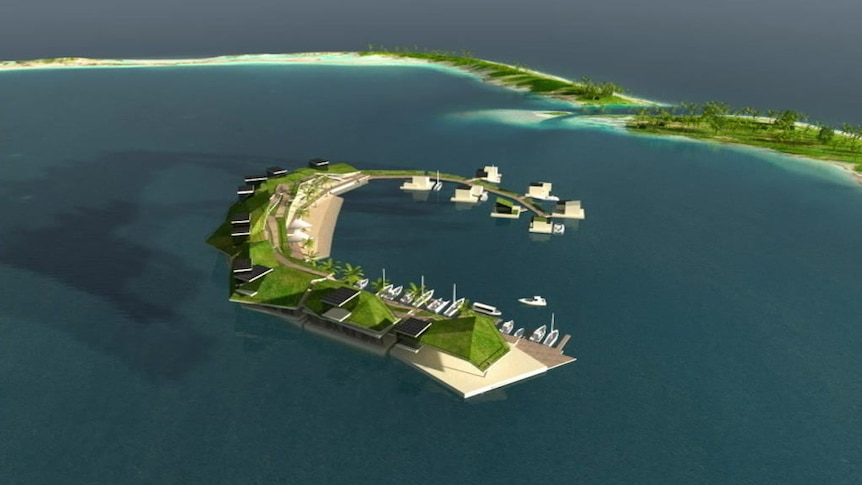 Blue Frontiers' concept design for a floating town in French Polynesia