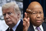 A composite image showing US President Donald Trump and Democratic Party congressman Elijah Cummings.