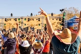 Big Red bash revellers at the Birdsville event