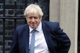 Uk Prime Minister Boris Johnson leaves 10 Downing Street