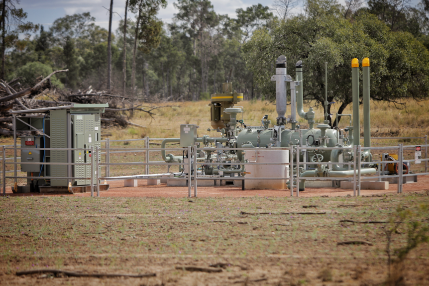 Gas equipment on the ground.