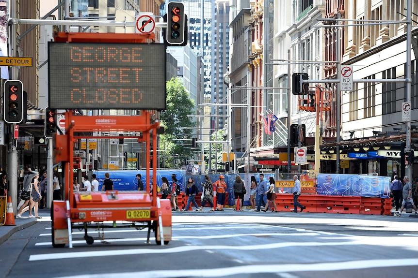 George Street closed to traffic in Sydney's CBD