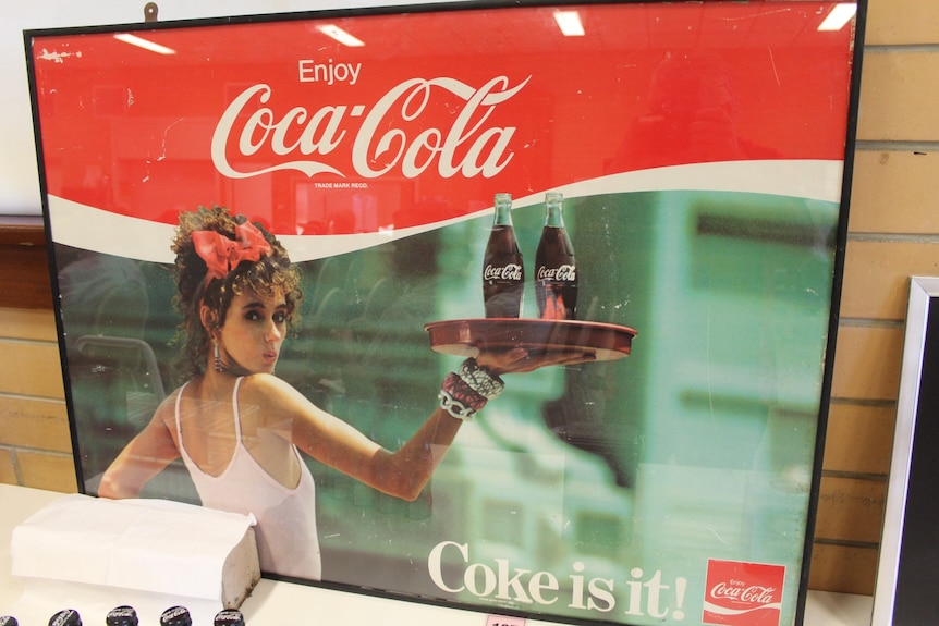 merchandise with the brand coca cola
