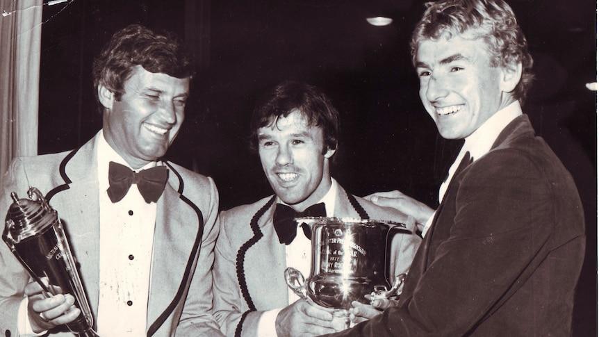 Rale Rasic, Jim Rooney and John Kosmina at an awards night.