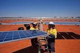 Solar PV Array at Sandfire copper mine WA