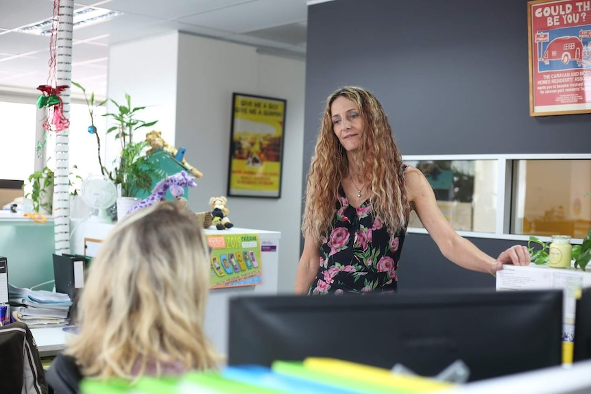 Tenants Queensland CEO Penny Carr in the office