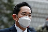 Samsung Electronics Vice Chairman Lee Jae-yong arrives at the Seoul High Court in Seoul, South Korea.