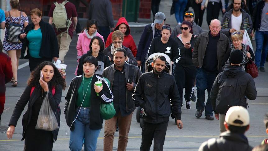 Street scene in Melbourne