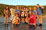 Students from the Burkedin, Ingham and Townsville on Orpheus Island.