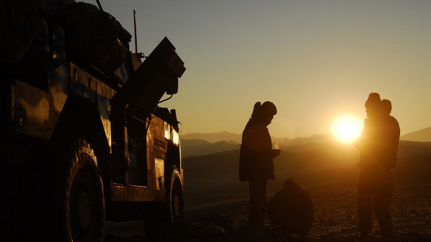 Job to do...Mr Rudd says Australian soldiers in Afghanistan have an 'important mission'.