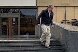 Marcus James Pollard leaves the Supreme Court in Hobart.