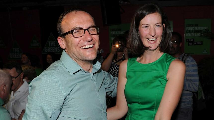 Adam Bandt and Ellen Sandell