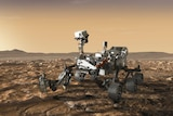 Artist's impression of the Perseverance rover
