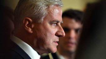 Cloe up of Nationals leader and Deputy Prime Minister Michael McCormack