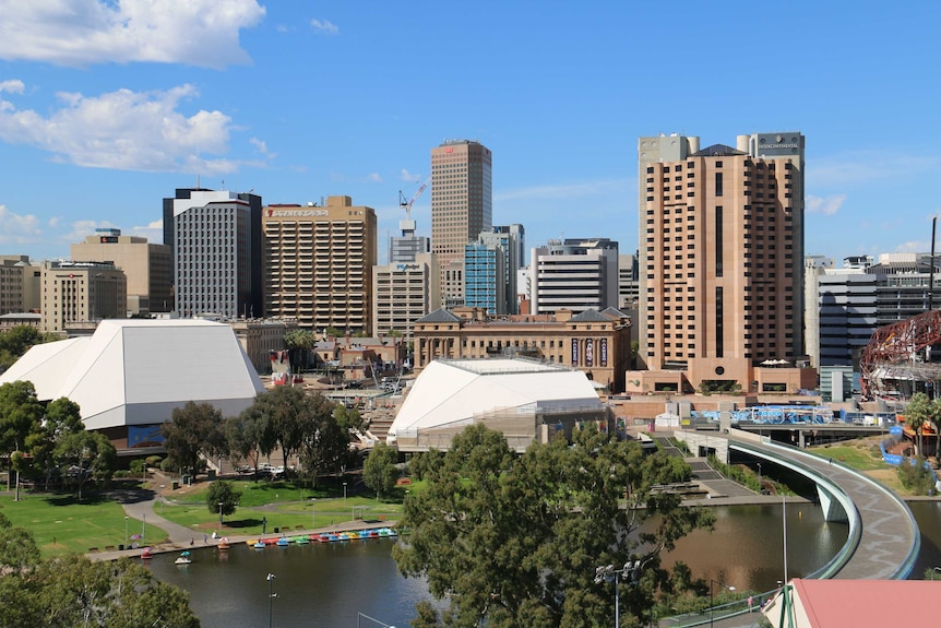 A view of Adelaide's CBD