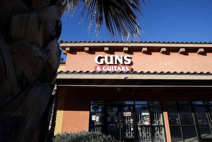 TheGuns&Guitarsstore is shown in Mesquite.