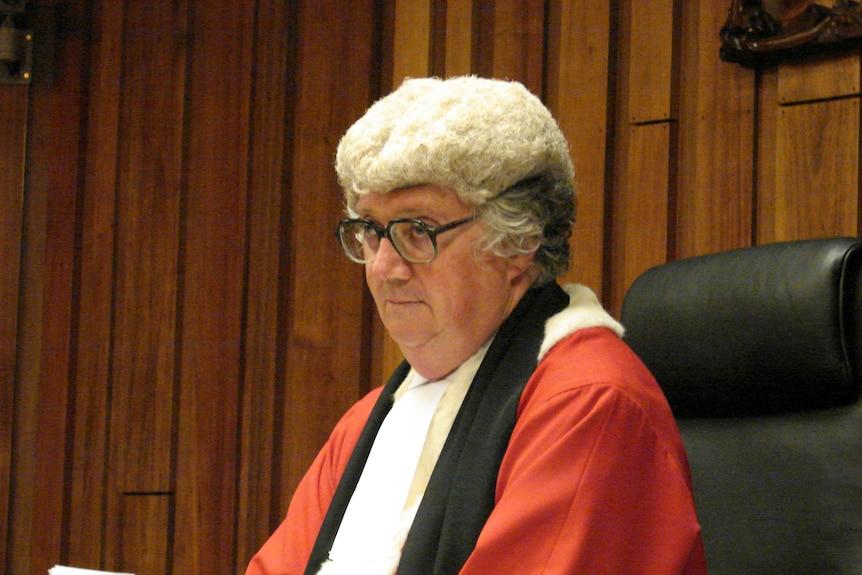 Tasmania's Chief Justice Alan Blow in wig