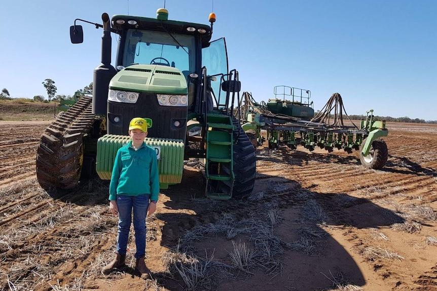 Henry Maunder on the family farm
