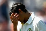 Ashton Agar shows his anguish after being dismissed for 98 in the first Ashes Test