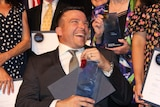 Kurt Fearnley with his award as the NSW Australian of the Year, in Sydney on November 12, 2018.