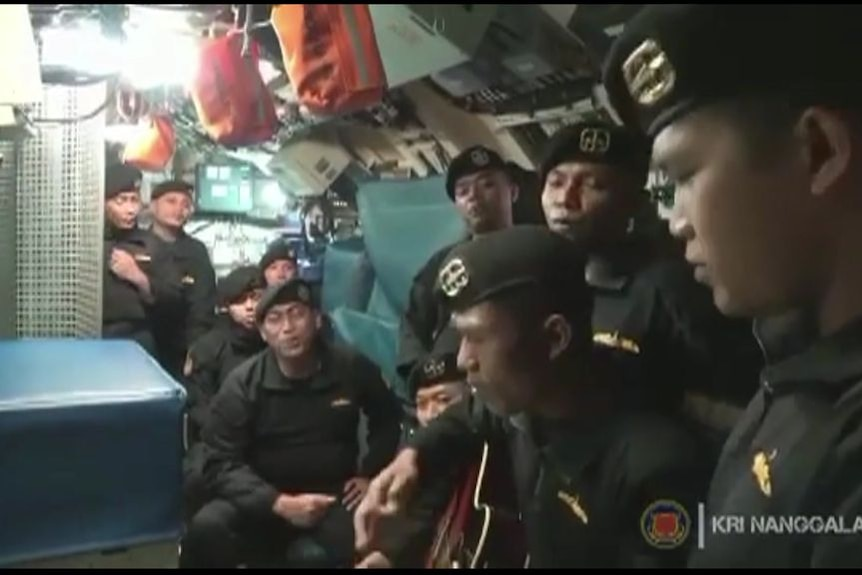 Indonesian Navy releases video of crew singing