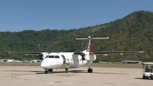 Skytrans plane at Cairns airport in far north Qld